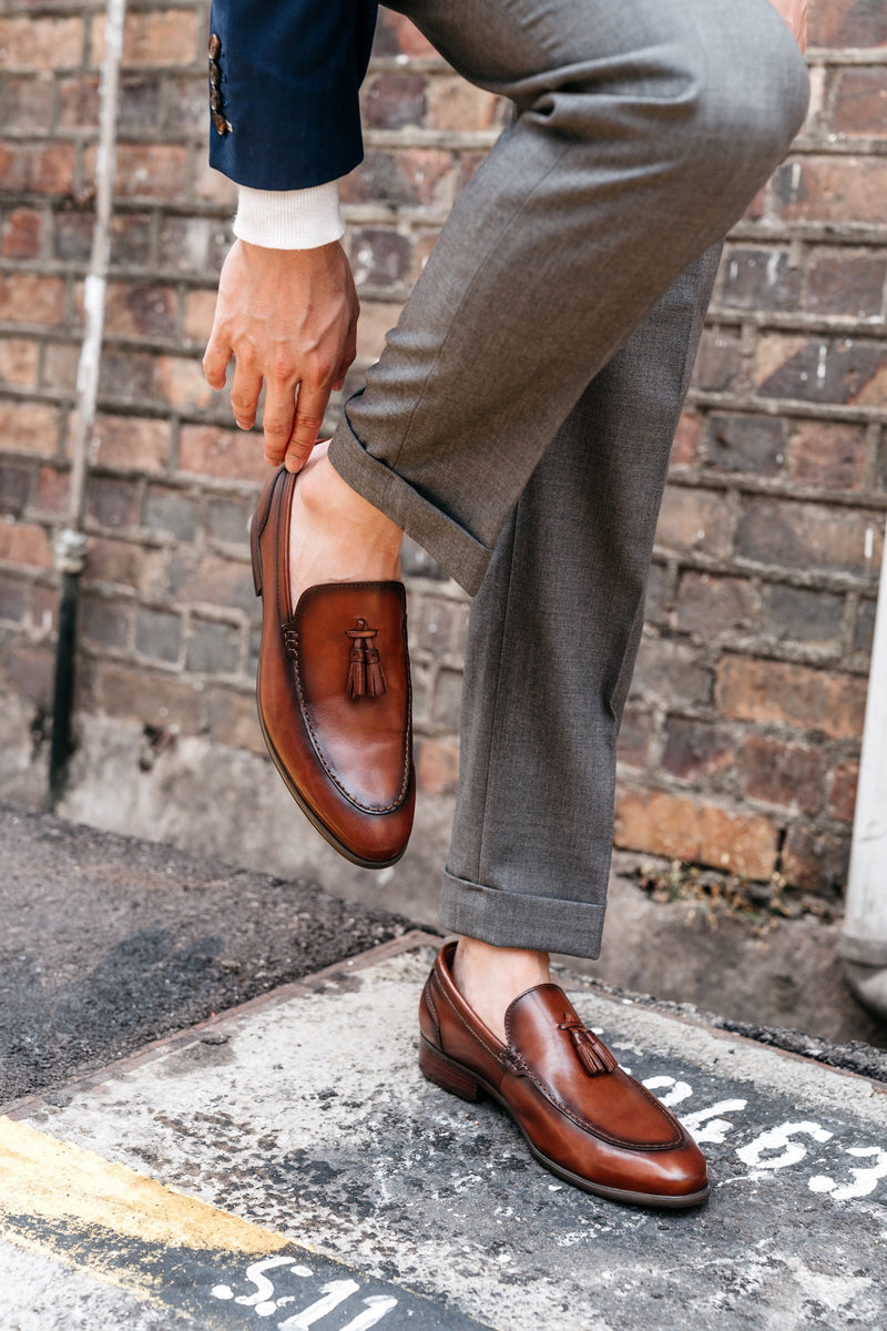 Roque Tassel Loafers - Rust - Gaius Walks