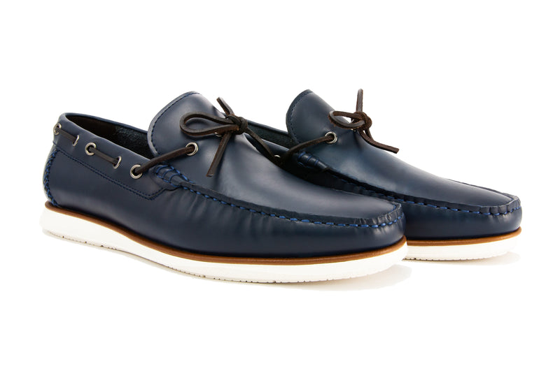 Sergio Driver Loafers - Indigo - Gaius Walks