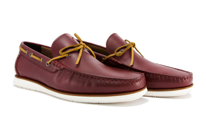 Sergio Driver Loafers - Sangria - Gaius Walks