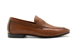 Santo Napa Leather Penny Loafers - Rust - Gaius Walks