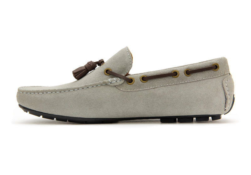 Carlo Suede Tassel Loafers - Ash - Gaius Walks