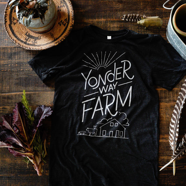 Yonder Way Farm Black Barnyard T-Shirt