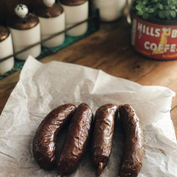 Grass-fed Beef: Smoked Beef Sausage