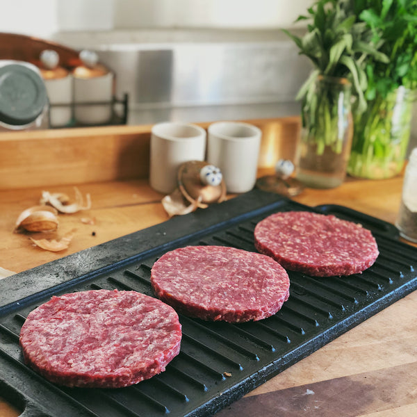 Grass-Fed Beef: BLEND Beef + Pork Hamburger Patties