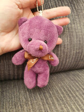 Load image into Gallery viewer, CUTE SMALL HOMEMADE COLOURFUL BEARS - KEYCHAINS