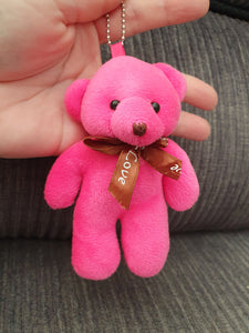 CUTE SMALL HOMEMADE COLOURFUL BEARS - KEYCHAINS