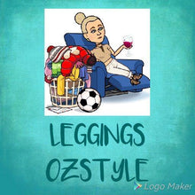 Load image into Gallery viewer, Ladies One Size Teal Soccer Goal Leggings