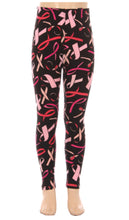 Load image into Gallery viewer, Kids Breast Cancer Awareness Leggings