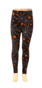 Kids Spider Web Halloween Leggings