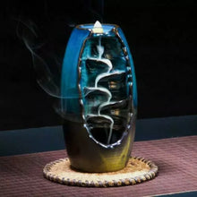 Load image into Gallery viewer, Mountain Waterfall Smoke Backflow Ceramic Incense Burner Cones Holder + 10 Cones