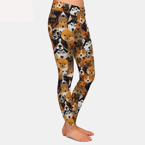 Womens Gorgeous Dogs Printed Leggings