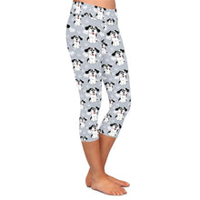Load image into Gallery viewer, Ladies Cute 3D Cartoon Dogs and Paw Prints Capri Leggings