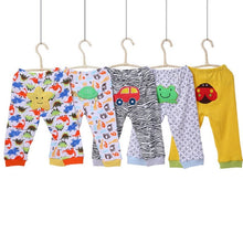 Load image into Gallery viewer, Infants Coloured Cartoon Pants/Leggings 5pcs/set gift 3-24M