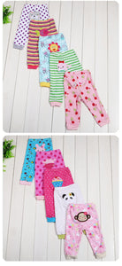 Infants Coloured Cartoon Pants/Leggings 5pcs/set gift 3-24M