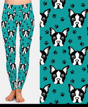 Load image into Gallery viewer, Ladies 3D Cute Cartoon Dogs & Paw Print Leggings