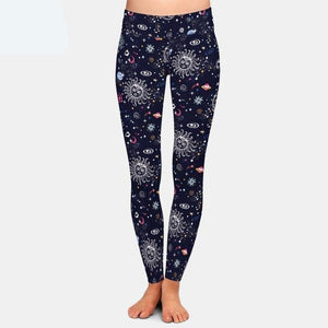 Beautiful Galaxy Solar System Printed Leggings