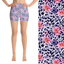 Load image into Gallery viewer, Ladies Summer Floral Leopard Printed Shorts