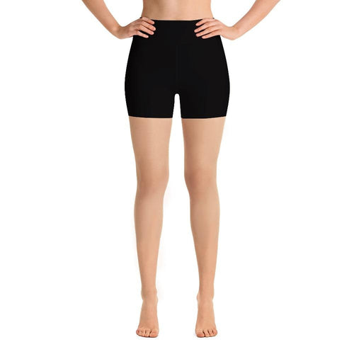 Ladies Solid Black Summer Shorts