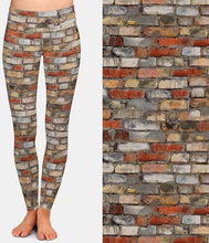 Load image into Gallery viewer, Womens Fashion 3D Brick Wall Printed Leggings
