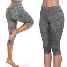 Load image into Gallery viewer, Ladies High Waist Yoga Capri Pants with Pocket