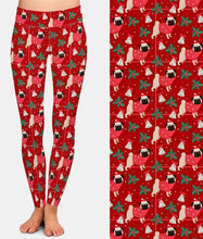 "Load image into Gallery viewer, Ladies Merry ""Pug"" Christmas Printed Leggings"