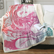 Load image into Gallery viewer, Gorgeous Marble Patterned Plush Sherpa Blankets