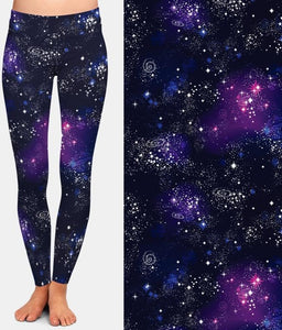 Ladies New 3D Galaxy Digital Printed Leggings