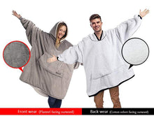 Load image into Gallery viewer, Adults Sherpa Fleece Microfiber Hoodie With Pocket - 4 Colours