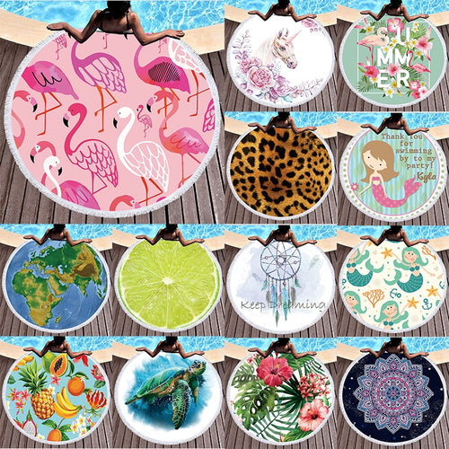 Gorgeous Assorted Boho Printed Round Beach Towels