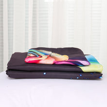 Load image into Gallery viewer, Luxury Rainbow Rose Printed Bedding Set