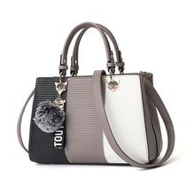 Load image into Gallery viewer, Womens Patchwork Tote Handbag