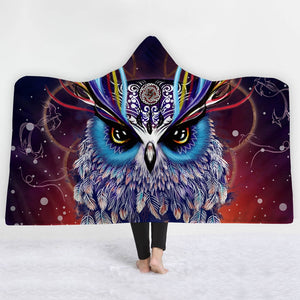 Gorgeous Plush Owl Hooded Sherpa Blankets