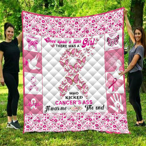 AHH-MAZ-ING Breast Cancer Awareness Quilted Blanket