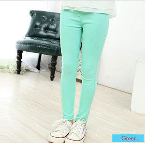 Girls Candy Coloured Cotton Leggings