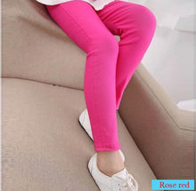 Load image into Gallery viewer, Girls Candy Coloured Cotton Leggings