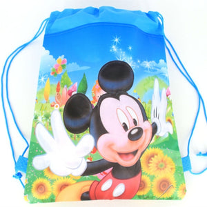 1 Piece Assorted Disney Drawstring Shopping/Swimming/Library Bags