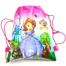Load image into Gallery viewer, 1 Piece Assorted Disney Drawstring Shopping/Swimming/Library Bags