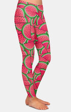 Load image into Gallery viewer, Womens AHH-MAZ-ING Summer 3D Watermelon Printed Leggings