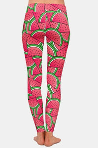 Womens AHH-MAZ-ING Summer 3D Watermelon Printed Leggings
