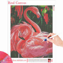 Load image into Gallery viewer, DIY 5D Flamingo Diamond Painting