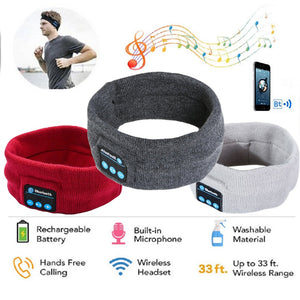 Wireless Bluetooth Stereo Headphones/Headband For Running, Sleep, Anytime