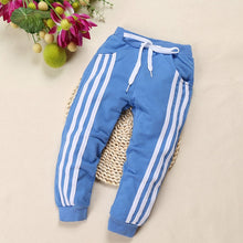 Load image into Gallery viewer, Kids Cotton Three Stripe Trackpants