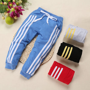 Kids Cotton Three Stripe Trackpants