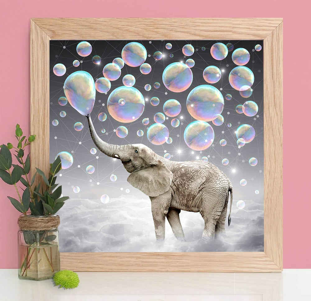 5D DIY Elephant Diamond Painting