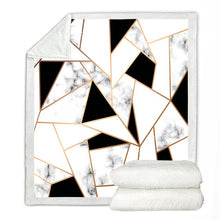 Load image into Gallery viewer, Marble Lux Plush Throw Sherpa Fleece Blankets