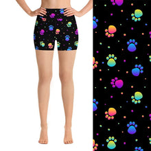 Load image into Gallery viewer, Ladies Fashion Shorts - 3D Dog Paws Digital Print