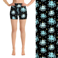 Load image into Gallery viewer, Ladies Cute Crowned Octopus Printed Summer Shorts