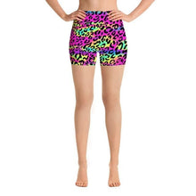 Load image into Gallery viewer, Womens Cute Rainbow Leopard Shorts