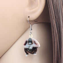 Load image into Gallery viewer, Acrylic Orangutan Earrings