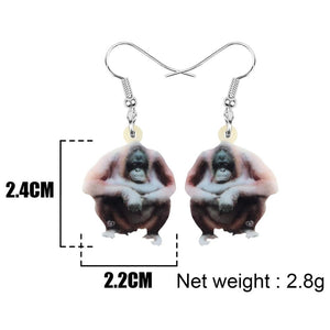 Acrylic Orangutan Earrings